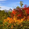 紅葉と槍ヶ岳
