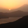 夕照の富士と芦ノ湖2