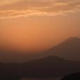 夕照の富士山