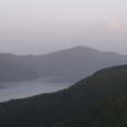 朝靄の富士と芦ノ湖