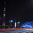 駒形橋とスカイツリー夜景